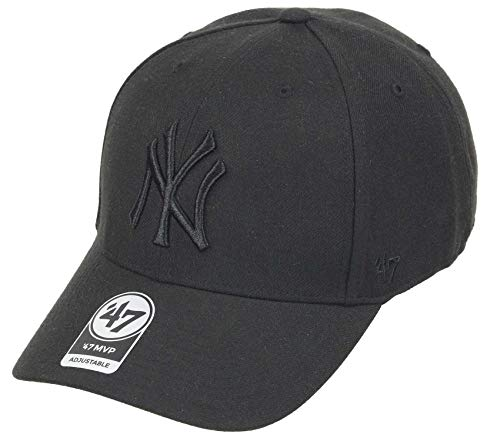 \'47 New York Yankees - Snapback Cap - MVP - MLB - Black On Black - One-Size