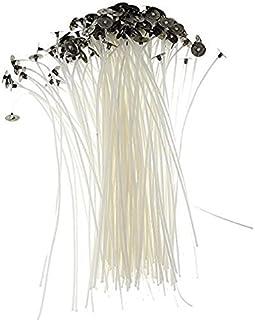 Lot de 50 mèches en coton naturel pour la fabrication de bougies - 15 cm