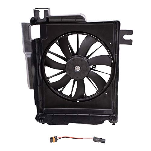 Brock Replacement A/C Condenser Cooling Fan Assembly Compatible with 2002-2009 1500 2003-2009 2500 3500 Pickup Truck 5093760AA