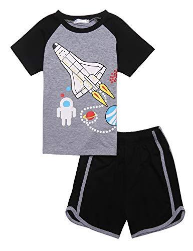 Bricnat Kurzer Schlafanzug Jungen 134 Pyjama Kinder 140 Kurzarm Zweiteilig Bekleidungsset