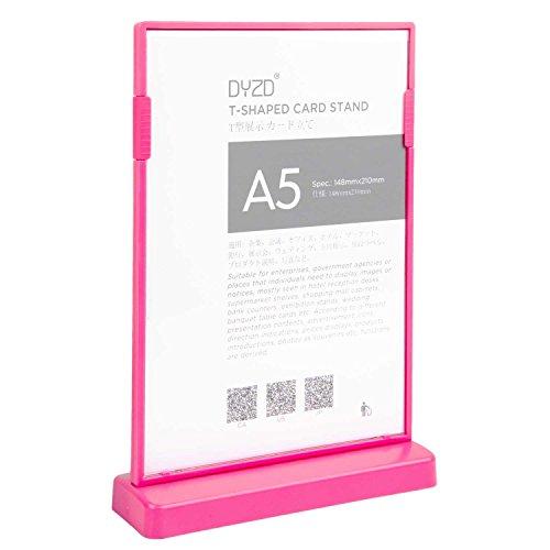 Dyzd - Soporte de mesa vertical con forma de T para marco de fotos o menú, color blanco