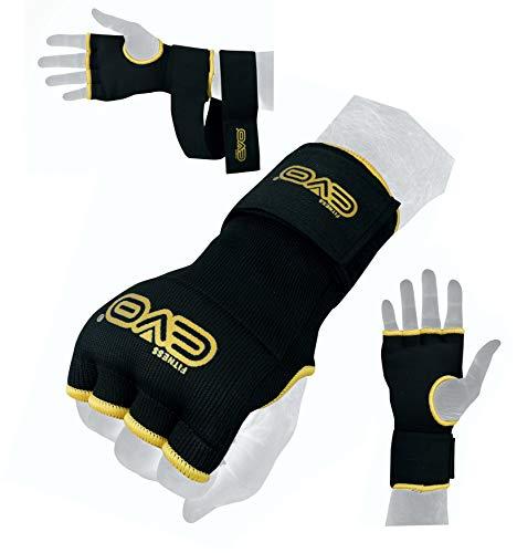 Evo Boxen Tasche Innen GEL Handschuhe MMA Ringen hand tücher Kampfsport Bandagen - Senior-L/XL