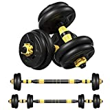 2020 NEW 2-in-1 Dumbbells Barbell Sets, Weights 22-66lbs, for Roman Weight Bench Weightlifting, Home...