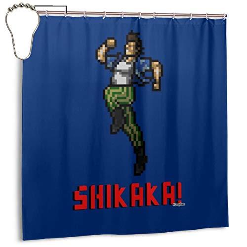 GSEGSEG Gseg Wasserdichter Polyester-Duschvorhang Ace Ventura Shikaka Pixelated Print Dekorativer Badezimmer-Vorhang mit Haken, 182,9 cm x 182,9 cm