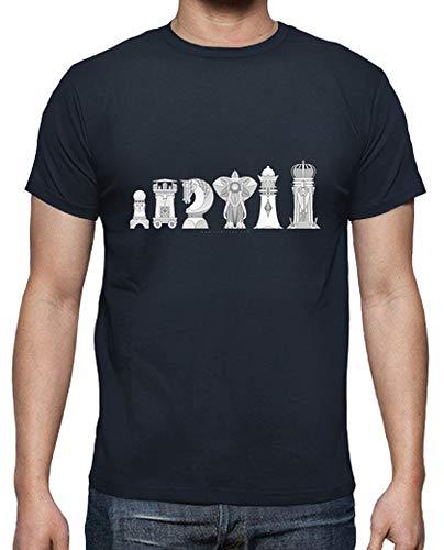 latostadora - Camiseta Ajedrez Modernista para Hombre