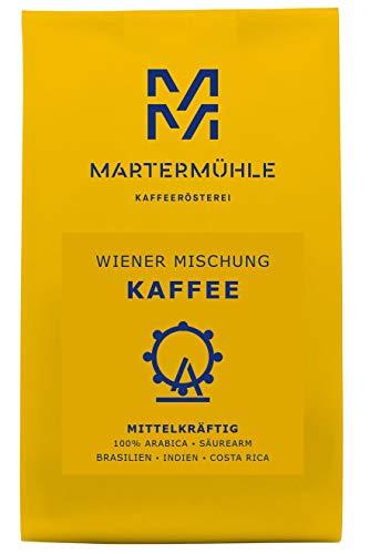 Martermühle   Kaffee Wiener Mischung (250g)   Gemahlen   Premium Kaffeebohnen aus Brasilien, Indien, Costa Rica   Schonend geröstet   Filterkaffee säurearm   100% Arabica
