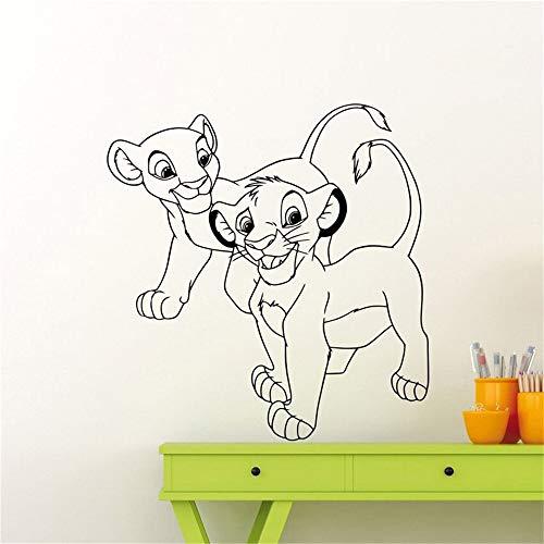 Roi Lion Simba Nala Autocollant Sur Mesure Maison Fille Garçon Pépinière Enfants Chambre Bébé Chambre Art Décor Mural
