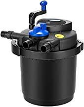VIVOHOME VH515 CPF-2500 Pressurized Biological Pond Filter with 13-watt UV Sterilizer Light, Up to 1600 Gallons, Black