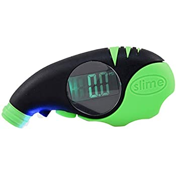 Slime 20475 Elite Digital Tire Gauge for Cars and Trucks with Big Bright Screen