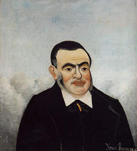 Portrait d'un homme par Henri Julien Rousseau. 100% peint à la main.Huile sur toile. Reproduction de haute qualité. Livraison gratuite (non encadrée et non étirée). Taille de la peinture: 36x40\