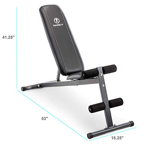 Marcy Exercise Utility Bench for Upright, Incline, Decline, and Flat Exercise SB-261W (Limited Edition)
