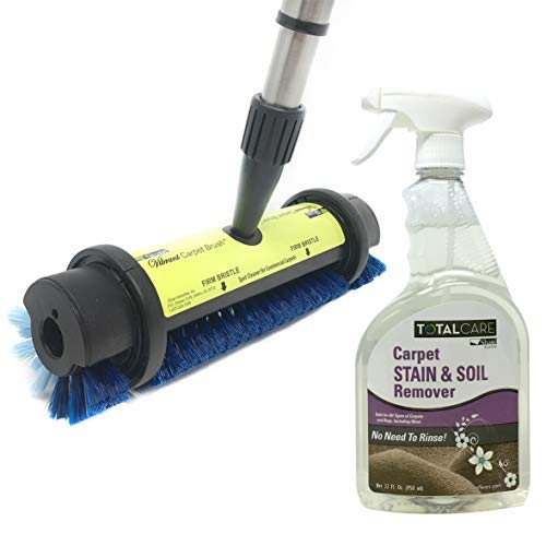 Shaw Floors Total Care Carpet Stain and Soil Remover Kit with Carpet Brush and Spray Cleaner 32oz