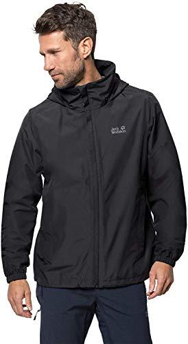 Jack Wolfskin Stormy Point Jacket M, wasser- und winddichte Allwetterjacke für Herren, robuste Hardshelljacke für jedes Wetter, atmungsaktive Herren Regenjacke, schwarz (black), XXL