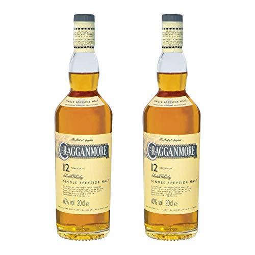 Cragganmore 12 Years/Jahre, 2er, Single Malt, Whisky, Scotch, Alkohol, Alokoholgetränk, Flasche, 40%, 200 ml, 701742