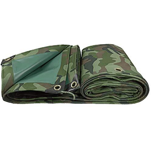 Camouflage Tarpaulin Waterdichte zonwering | Zonnezeil met meerdere lagen | gebruikt voor zeilen of reparaties aan het dak 5x7m