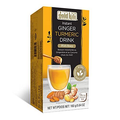 Bebida instantánea de cúrcuma de jengibre con miel