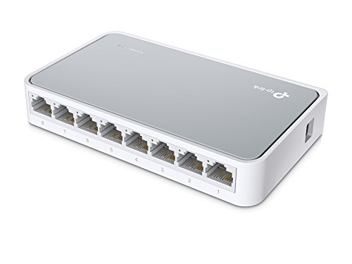 TP-Link TL-SF1008D 8-Port Desktop Switch RJ45 mit 2 SFP Slots, 10/100MBit