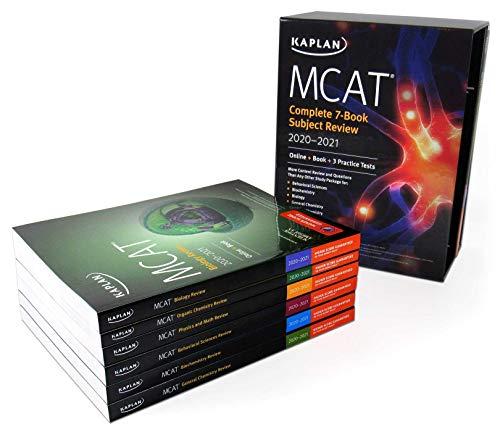 MCAT Complete 7-Book Subject Review 2020-2021: Online + Book + 3 Practice Tests (Kaplan Test Prep)