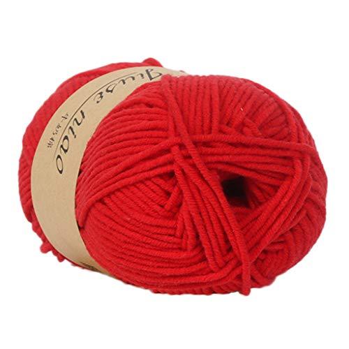 PFGO Baby-Baumwoll-Strickgarn, warm, weich, bunt, weich, milchig, bunt, handgestrickt, mehrfarbig, regenbogenfarben, weich, natürlich gehäkelt., baumwolle, g, Einheitsgröße