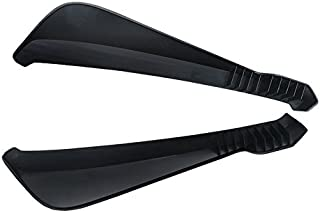 Rear Lip Splitters Compatible With Any Car   Rear Bumper Lip Diffuser Guard Conversion Unpainted Black PP by IKON MOTORSPORTS