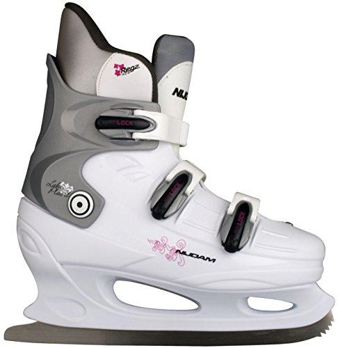 Nijdam Damen Schlittschuhe Eiskunstlauf, Weiß, 40