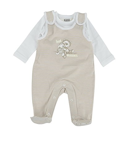 Kanz Unisex-Baby T-Shirt 1/1 Arm Strampler, Beige (Moonlight|beige 6031), (Herstellergröße: 50)