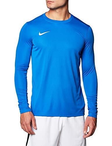 NIKE M NK Dry Park VII JSY LS Camiseta de Manga Larga, Hombre, Royal Blue/White, S