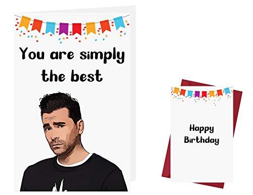 Schitts Creek Birthday Card – Schitts Creek Anniversary Card – Schitts Creek Happy Birthday Card – David Rose Birthday Card – with Enveloppe