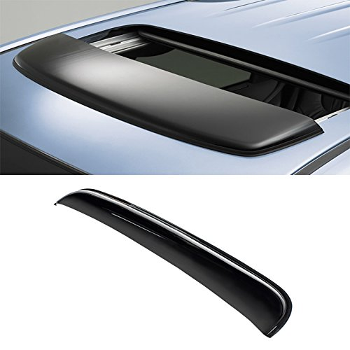 VioGi 34' (32.8' Between The Inner Edge) Universal Dark Smoke Sun/Moon Roof Rain Snow Guard Window Visor Deflector