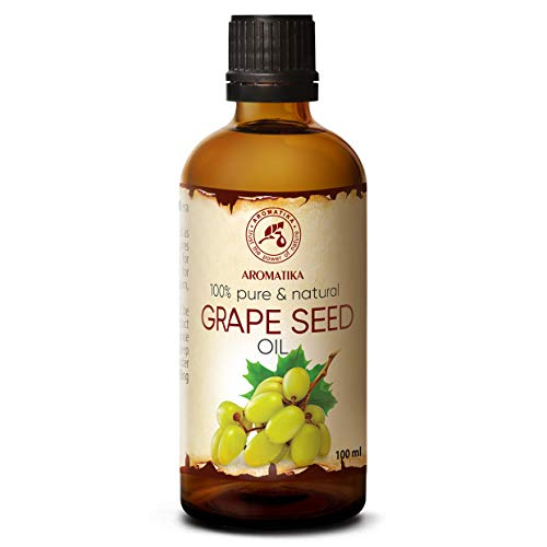 Grapeseed Oil Refined 1.7oz - Vitis Vinifera - Grape Oil 100% Pure & Natural - Body Oil - Intensive Care for Face - Body - Hair - Skin - Massage - Grape Seed Oil