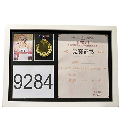 zzjj Simple And Beautiful Medal Display Box,Wooden War Military And Sports Medals Display Frame,To Display Medals,Badges,photo Or Certificate,Black Easy To Install