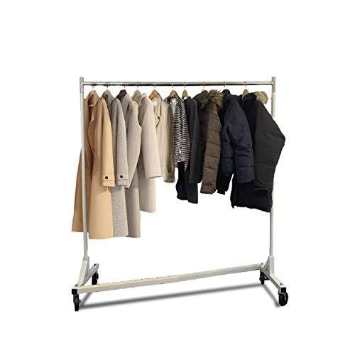 Heavy Duty 300lb Load Garment Clothing Z Rack – Rolling Garment Z Rack for Home Retail Display Durable Square Tubing Commercial Grade Clothing Rack Display Racks Coat Rack Fixtures