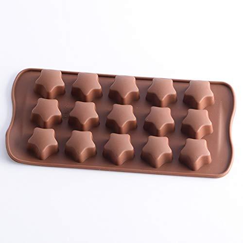 Moldes- XL- Cacerola de los de la hornada, del Chocolate del Pentagram del Caramelo de la Torta de los Pasteles de los pequeños Pasteles del silicón fijados