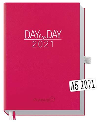 Chäff Organizer Day by Day 2021 A5 [Berry] 1 Tag pro Seite | Hardcover Kalender 2021, Tagesplaner, Terminkalender, Terminplaner, Tageskalender | nachhaltig & klimaneutral