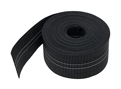 House2Home Webbing for Lawn Chairs and Furniture, Upholstery Webbing to Repair Couch Supports for Sagging Cushions, 3 Inch Wide by 60 Foot Roll 10% Stretch Elastic Chair Webbing Replacement