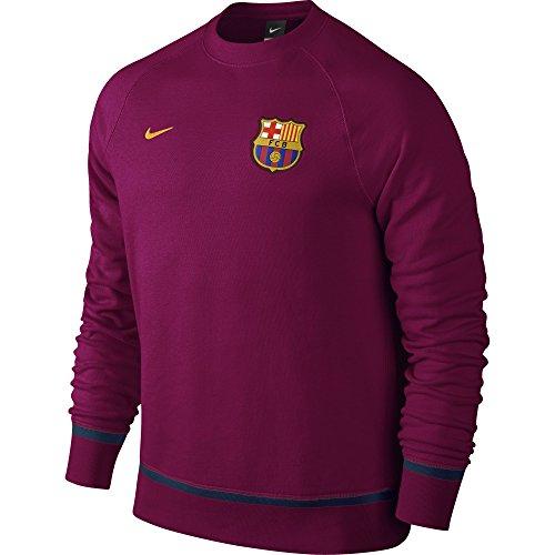 Nike FCB Auth Aw77 Ls Crew Maillot de Football Club Barcelone 2015/2016 pour Homme M Multicolore - Rouge / Doré (Dynamic Berry/University Gold)