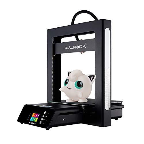 JGAURORA A5S - Impresora 3D industrial, marco de metal negro, cama de impresión flexible, página de inicio para PLA, tamaño de modelo más grande, 305 x 305 x 320 mm