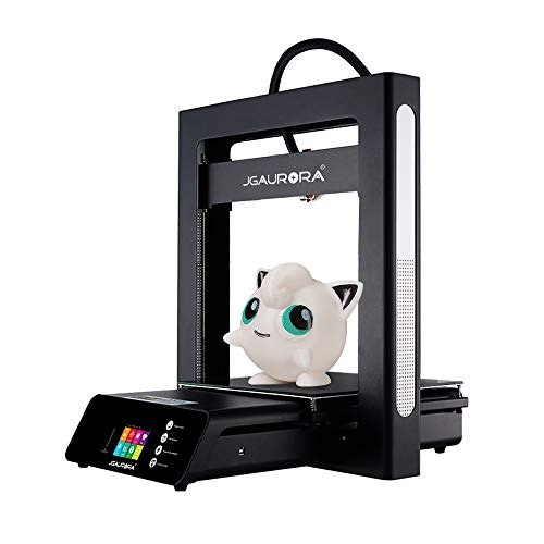JGAURORA A5S stampante 3D, inserto in metallo, alimentatore di rete per continuare, rilevamento del filamento di stampa, grande volume di stampa 305 x 305 x 320 mm, montaggio 98%