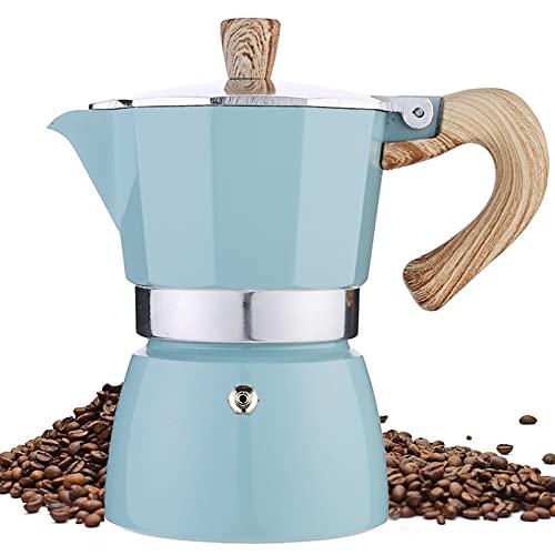 Stovetop Espresso Maker, 3 Espresso Cup Moka Pot - 5 oz Manual Cuban Coffee Percolator Machine Premium Aluminum Moka Italian Espresso Greca Coffee Maker Brewer Percolator