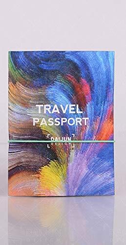 Reisepasshülle aus Craftpaper - vegan, wasserfest - Ausweis Etui mit Platz für Tickets und Karten (Wirbel)