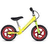 Bicicleta sin pedales Bici Bicicleta de Equilibrio Amarillo con Freno de Mano - Bicicleta de Entrenamiento Ligera para niñas/niños, 2/3/4/5/6 años