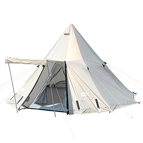 タンスのゲン ポールテント 4〜5人用 グランドシート付き テント 日除け UVカット 大型 簡単 収納バッグ キャンプ アウトドア 44400009 02 【68891】