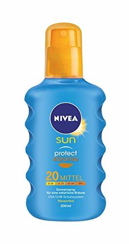 Nivea Sun Protect & Bronze Sonnenspray LSF 20, 1er Pack (1 x 200 ml)