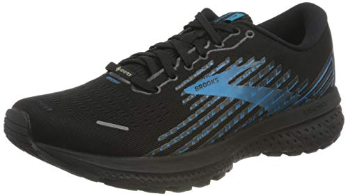 Brooks Ghost 13 GTX, Scarpe da Corsa Uomo, Black/Grey/Blue, 44 EU
