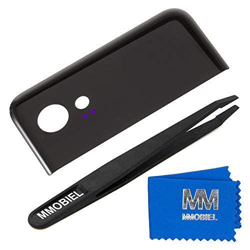 MMOBIEL Back Rear Camera Glass Lens Compatible with Google Pixel 2 XL 6.0inch (Black) incl Tweezers and Cloth