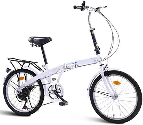 Cesto sucio Bicicleta de montaña Bicicletas Deportes de Ocio del Viajero, de 20 Pulgadas Niños Niñas Bicicletas Plegables, 7 Speed Bike Niño Jóvenes, Adultos de la Bicicleta Plegable