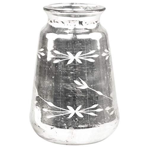 Chic Antique Vase mit Schliff Antik Silber Bauernsilber 2 Größen (H 20 cm)