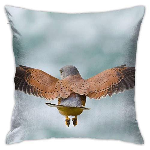 Kestrel - Funda de almohada decorativa para el hogar, diseño de alas de pájaro, para regalo, hogar, sofá, cama, coche, 45,72 x 45,72 cm