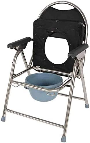 WYKDL Steel Folding Bedside Commode Toilet Mobile Chair Wheel Wholesale Sales results No. 1 Tu