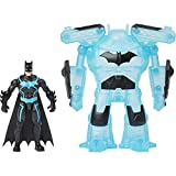 DC Comics Batman Bat-Tech 4-inch Deluxe Action Figure with Transforming Tech Armor, Kids Toys for Boys Aged 4 and up